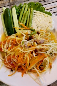 Papaya Salad is sweet and sour, and I miss it.