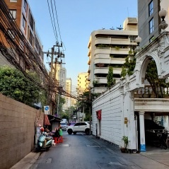 The alley walk to and from the hotel to Korea town and the main road.