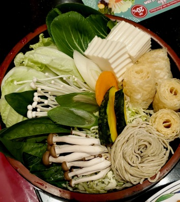 MK Hotpot: Vegetables and Noodles