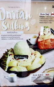 I took a picture, but was not at all interested in trying Durian Bingsoo.